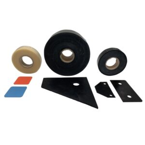Spacers and rubber supports